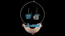 #25 - turquoise cityscape pendant & turquoise square ear rings