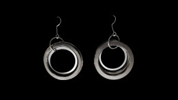 11B - concentric 3 rings, no spring - earrings